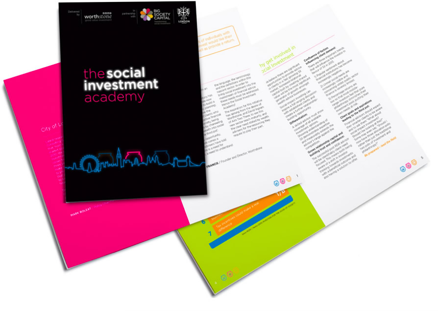 Social Investment Academy financial branding screenshot