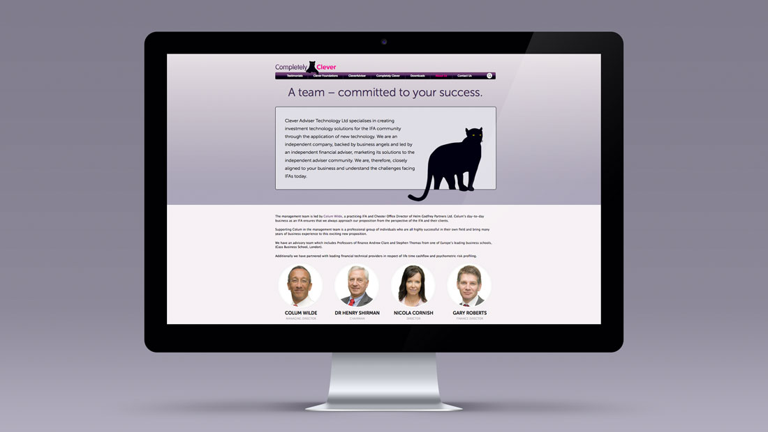 IFA website design for Completely Clever