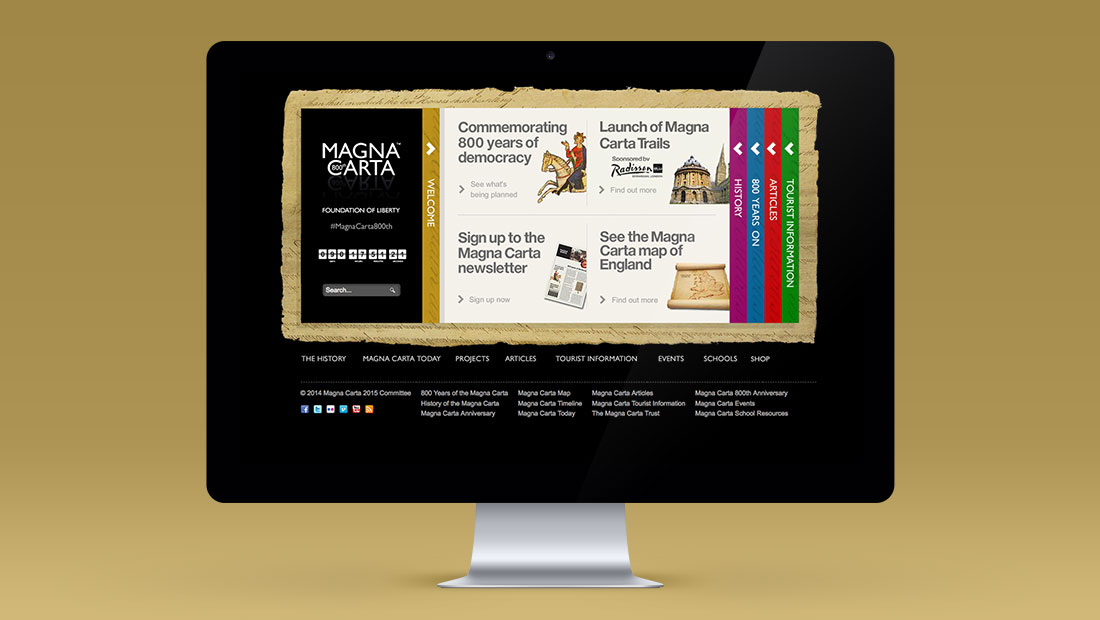 Magna Carta website by CreativeAdviser, creators of financial websites