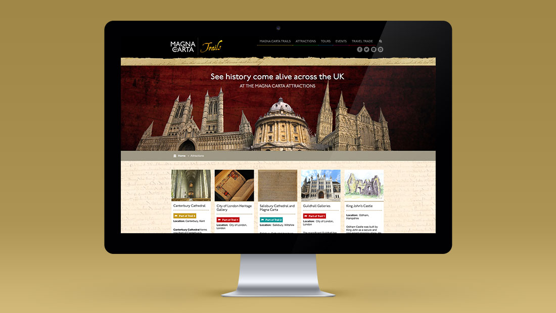 Magna Carta trails website by CreativeAdviser, creators of ifa websites