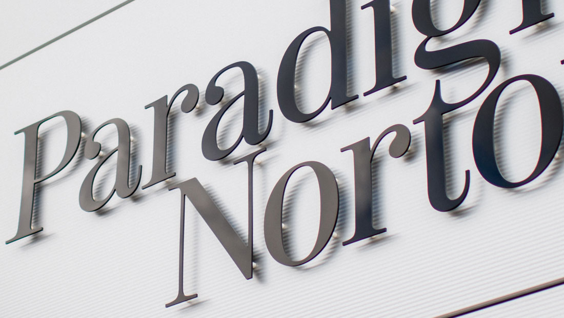 Office signage and financial branding for Paradigm Norton
