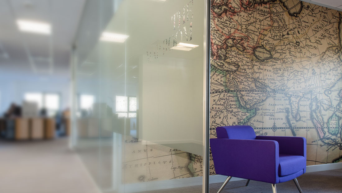 Interior office design, PN financial branding work