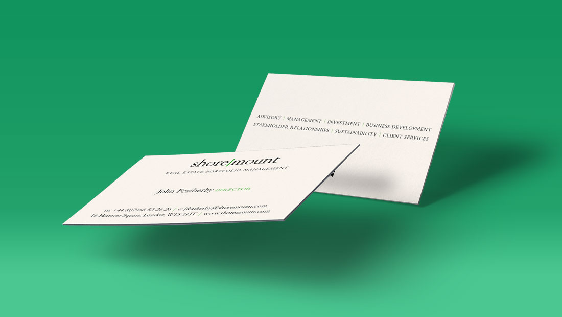 Biz cards for SM, financial branding