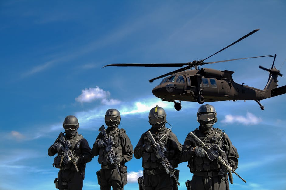 Military picture illustrating a financial website SEO attack