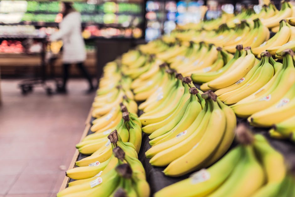 Bananas in a supermarket - illustrating distraction in financial logos