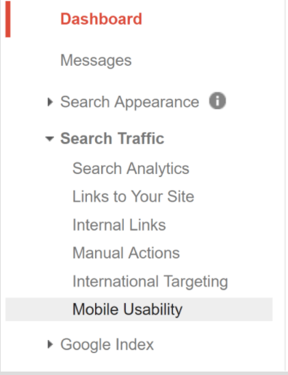 Example of financial marketing and Google Search Console