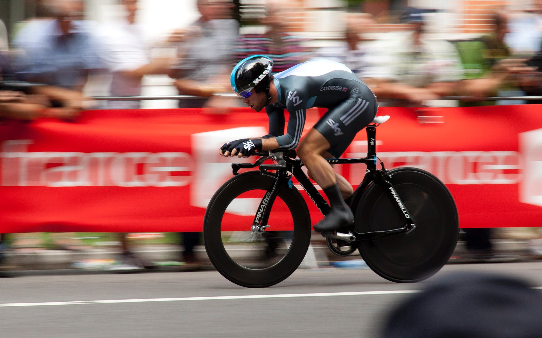 Racing cyclist, showing speed in financial websites and marketing