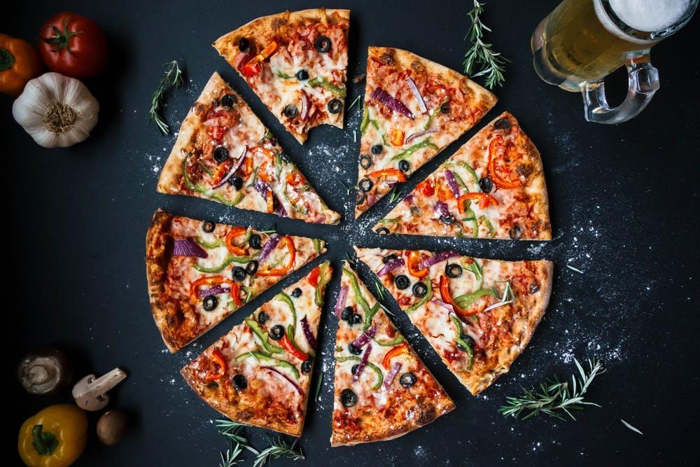 Pizza slices representing marketing segmentation for financial planners